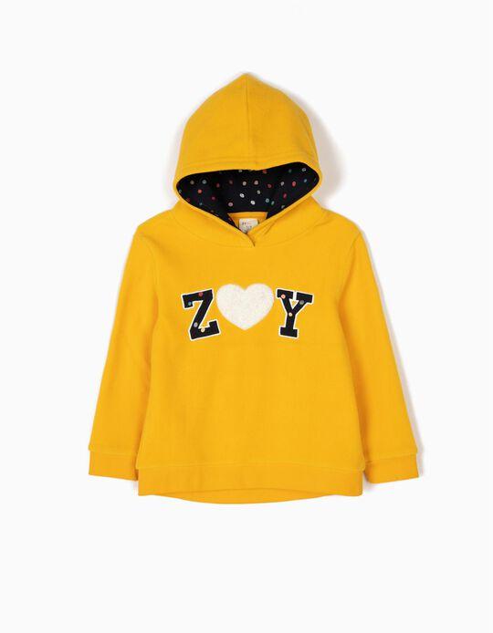 Sweatshirt Polar ZY Amarela Pintinhas