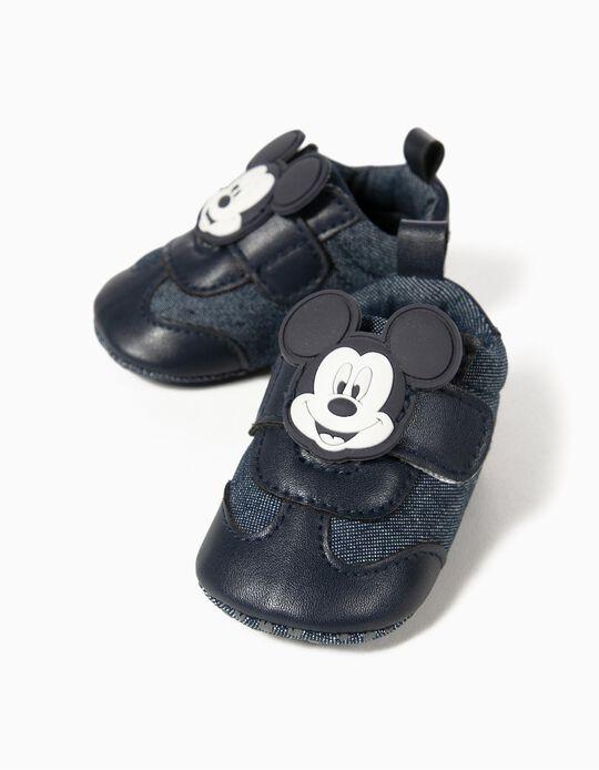 Sapatilhas Denim para Recém-Nascido 'Mickey', Azul Escuro
