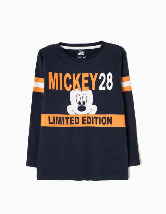 T-shirt Manga Comprida Mickey Limited Edition Azul