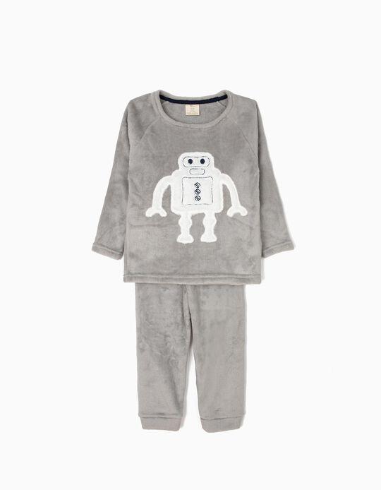 Pijama para Menino 'Robots', Cinza