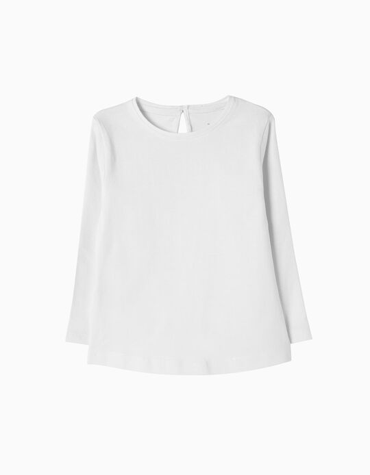 Camiseta de Manga Larga Básica Blanca