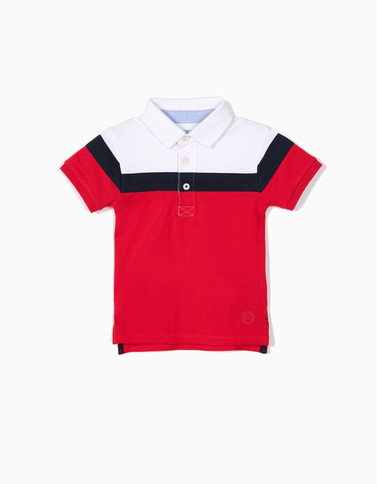 Polo para Bebé Menino, Tricolor