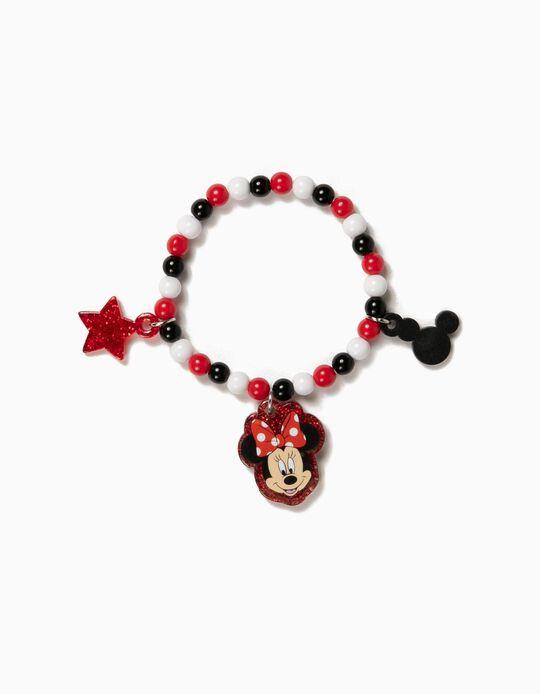 Pulsera de Cuentas para Niña 'Minnie', Roja
