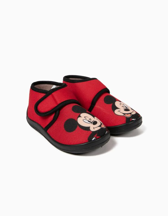 Zapatillas de Casa Rojas Mickey Mouse