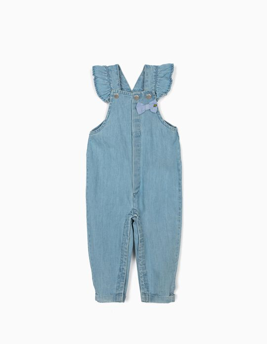 Denim Dungarees for Baby Girls 'Comfort Denim', Light Blue