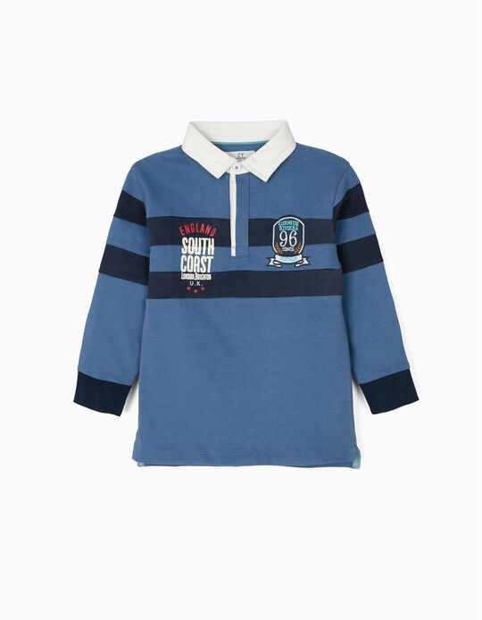 Polo Shirt for Boys 'Vintage Train',  Blue