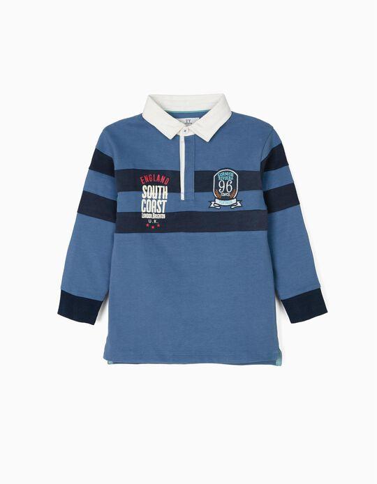 Polo para Niño 'Vintage Train', Azul