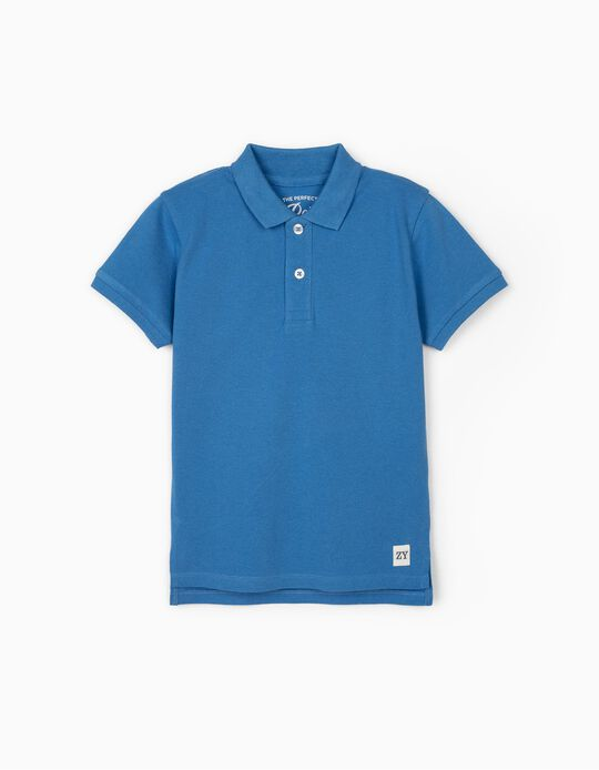 Short Sleeve Polo Shirt for Boys, Blue