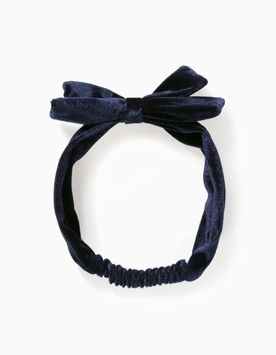 Cinta del Pelo Terciopelo para Niña 'B&S', Azul Oscuro