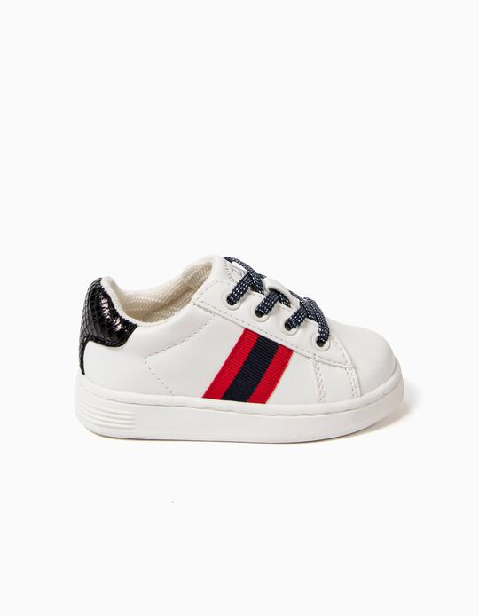 White Trainers with Stripes