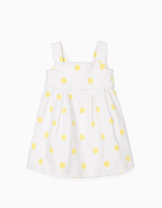 Vestido Sarja Bebé Menina, Branco