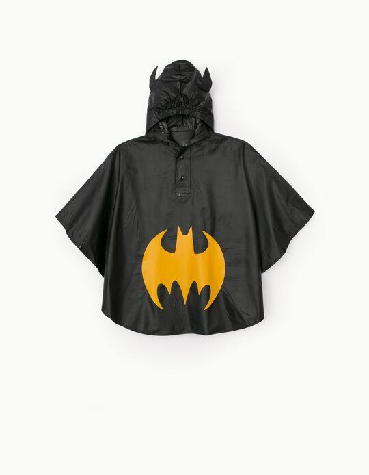 Poncho Rain Cape for Boys 'Batman', Black
