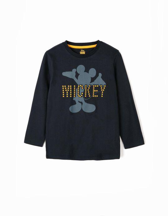 Camiseta de Manga Larga para Niño 'Mickey', Azul Oscuro