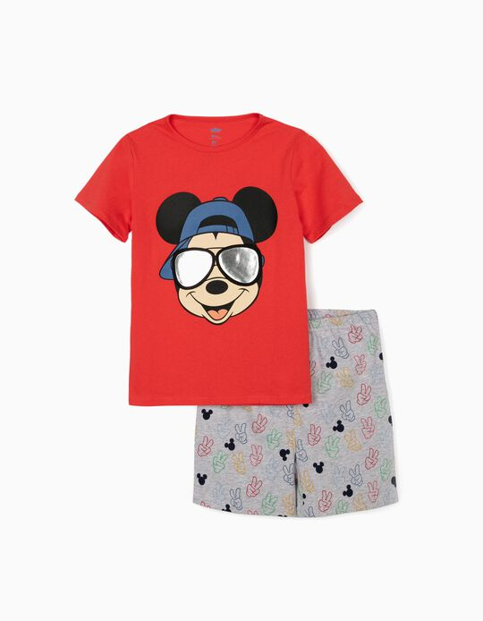 Pyjamas for Boys, 'Mickey Mouse', Red/Grey