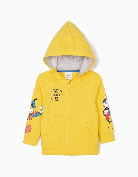 Chaqueta para Bebé Niño 'Mickey & Donald' con Capucha, Amarilla