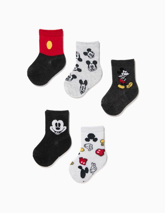 5 Pares de Calcetines para Bebé Niño 'Mickey', Multicolor