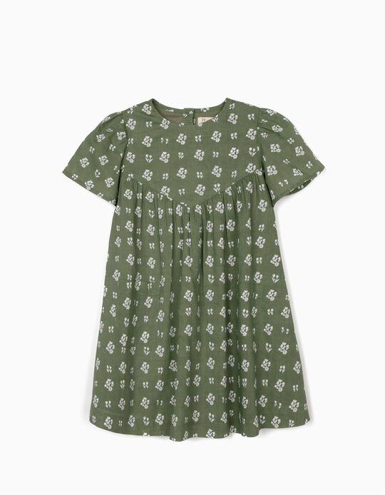 Vestido para Niña 'Flowers', Verde