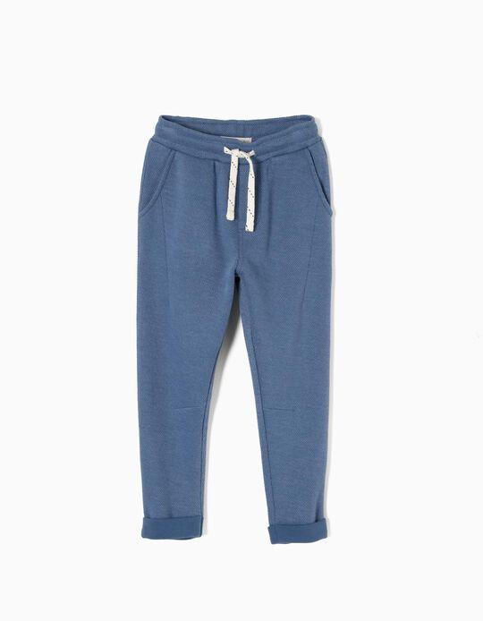 Pantalón de Chándal de Punto Azul
