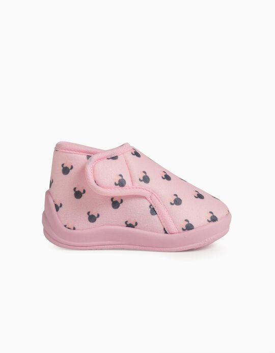 Chaussons bébé fille 'Minnie', rose