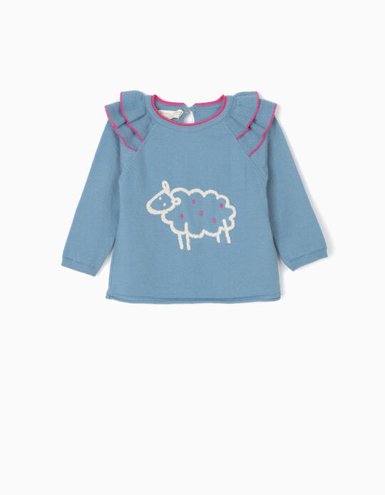 Camisola de Malha Ovelha Azul