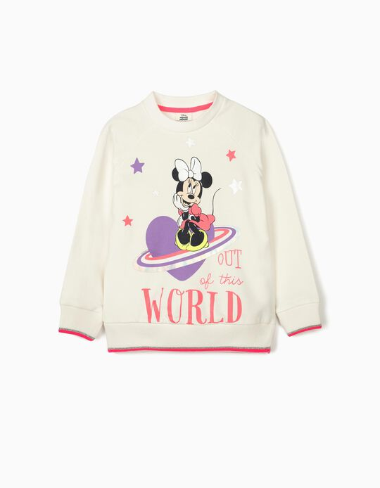Sweat fille 'Minnie World', blanc