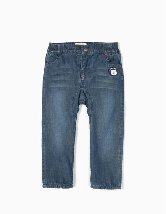 Pantalón Vaquero para Bebé Niño 'Save the Artic', Azul