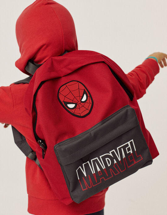 Backpack for Boys 'Spider-Man', Red/Grey