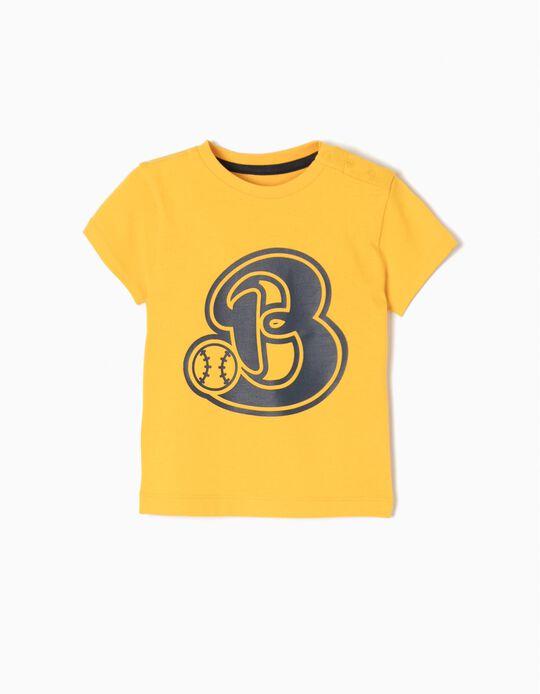 Camiseta Béisbol Amarilla