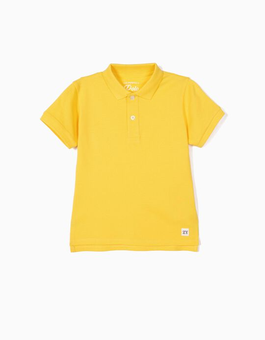 Polo Shirt for Boys, Yellow