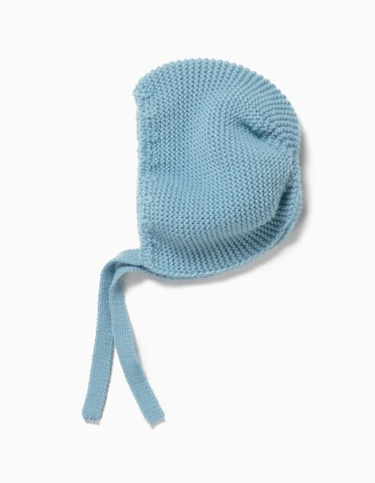 Knitted Beanie for Newborn Baby Boys, Light Blue