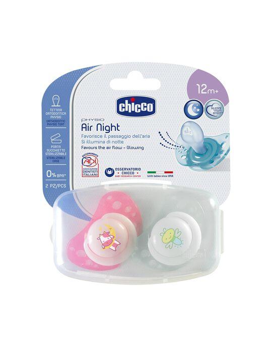 Chupete  Physio Air Silicona 12M+ Chicco 2Un.