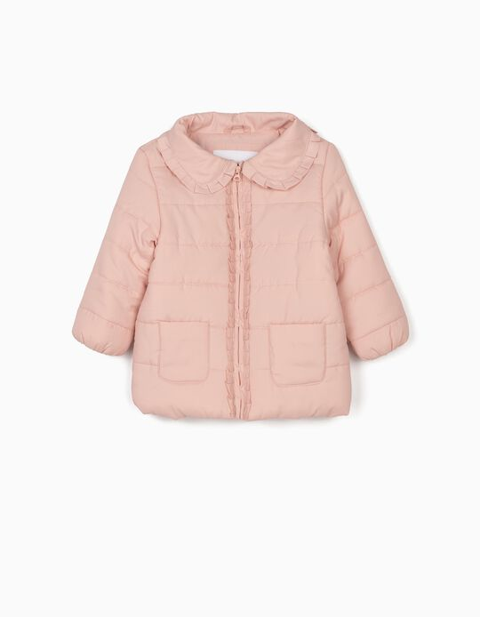 Padded Jacket for Baby Girls, Pink
