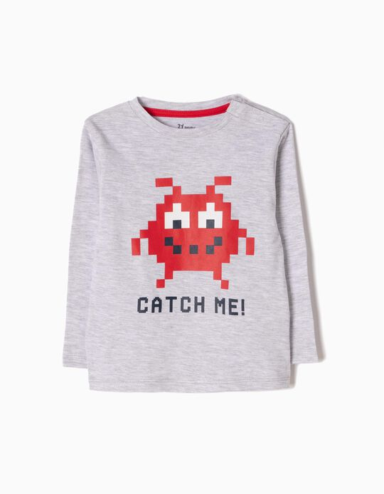 Camiseta de Manga Larga Estampada Catch Me