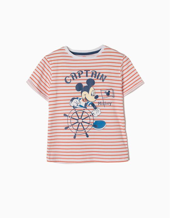 T-shirt Riscas Mickey Captain