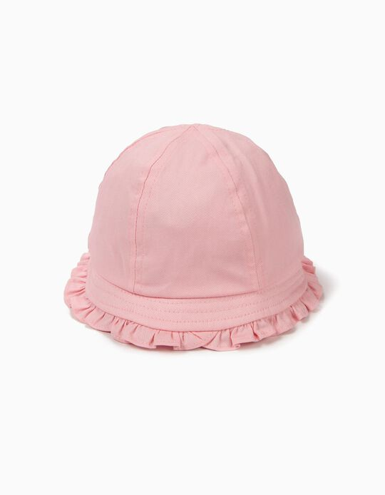 Hat for Baby Girls with Ruffles, Pink
