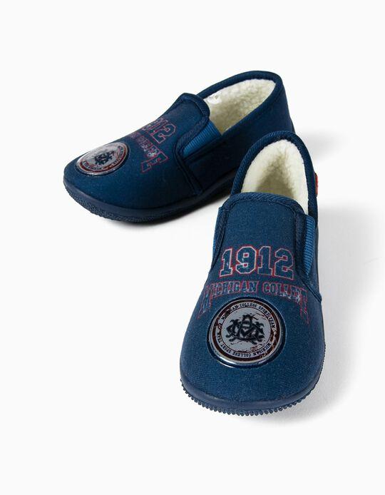 Zapatillas de Casa Beppi para Niño 'Michigan College', Azul Oscuro