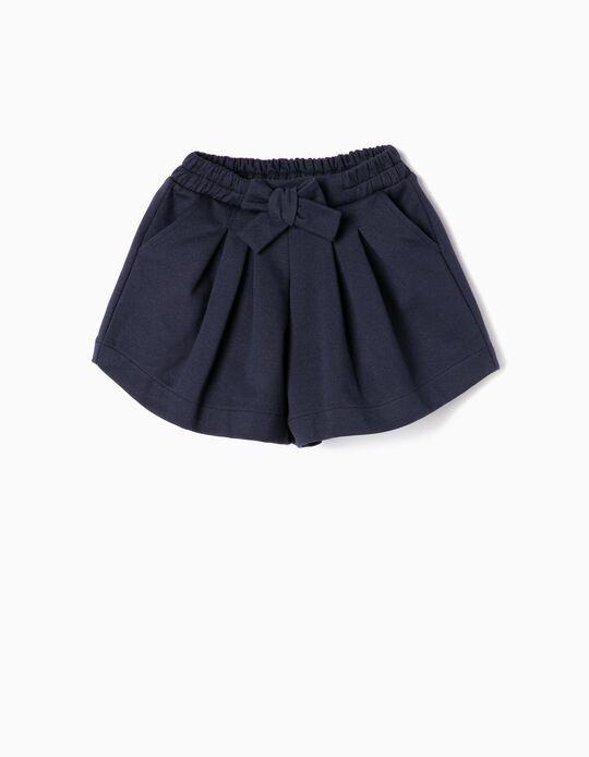 Short para Bebé Niña, Azul Oscuro