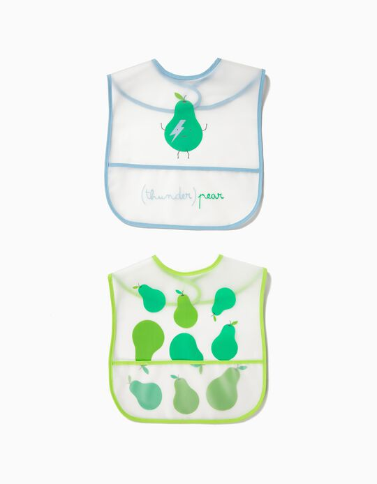 Pack of 2 Waterproof Bib with Pocket by Zy Baby
