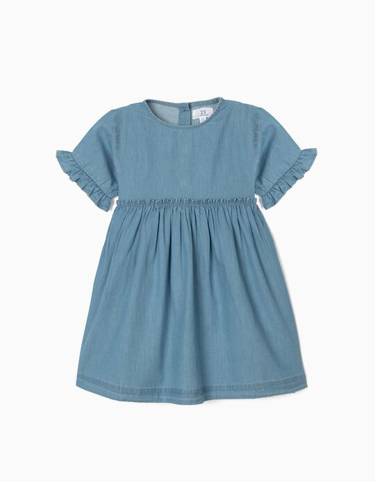 Vestido de Denim para Niña, Azul Claro