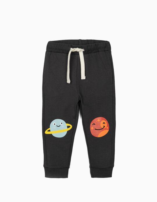 Pantalón de Chándal para Bebé Niño 'Planets', Gris Oscuro