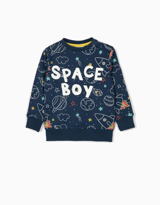 Sweatshirt for Baby Boys 'Space Boy', Blue