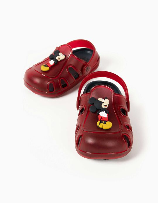 Clog Sandals for Baby Boys, 'Mickey Mouse', Red/Blue