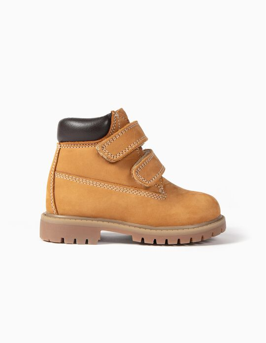 Mountain Leather Boots for Baby Boys, Camel