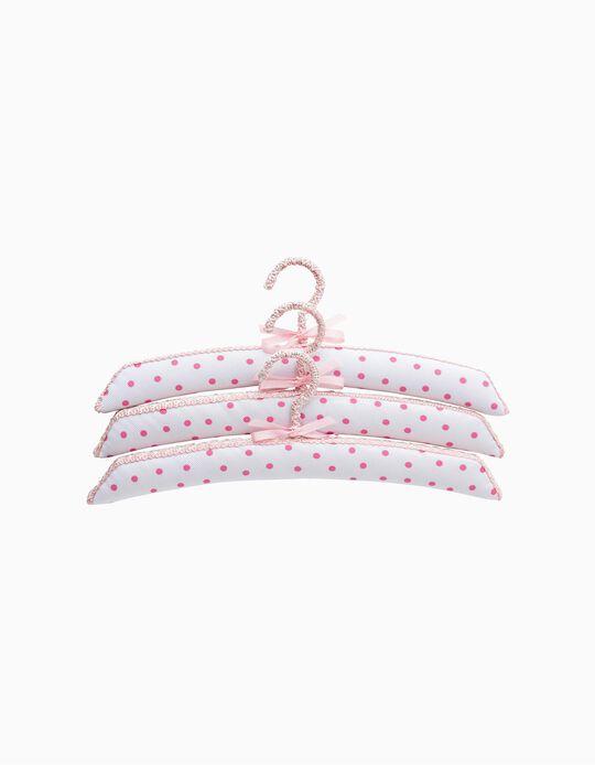 Percha Saro Pink Bubble 3 piezas