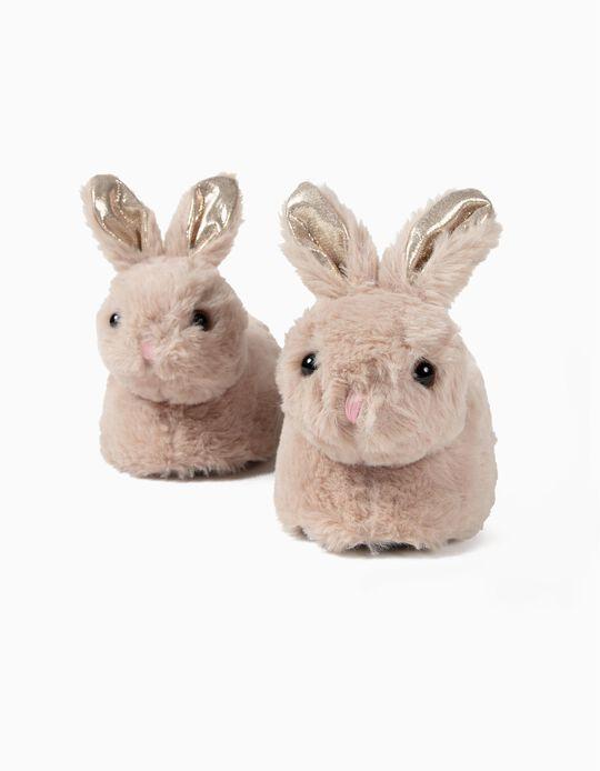 Zapatillas de Casa para Niña 'Bunny', Marrón Claro