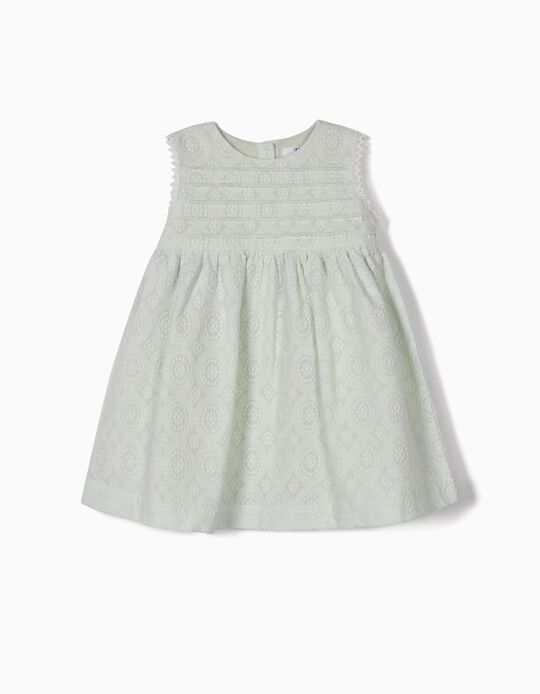 SS DRESS EMBROIDERY, GREEN7, 24/36M
