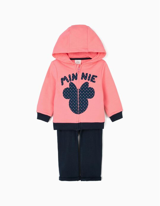Fato de Treino para Bebé Menina 'Minnie', Rosa e Azul Escuro