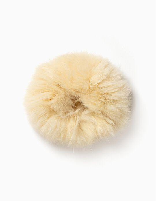 Goma para el Pelo Afelpada Blanca