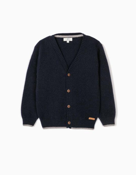 Casaco Lã para Menino, Azul Escuro