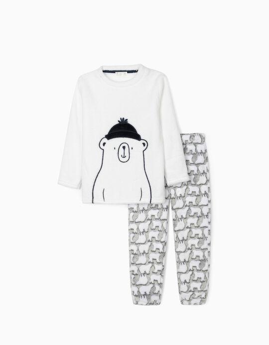 Pijama para Niño 'Little Bear', Blanco/Gris